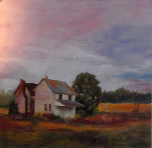 Study, Sunset, Double House