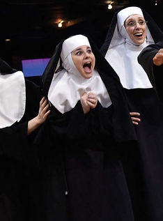 Cassandra Dupler performed the role of Sister Mary Patrick in Sister Act at The Fireside Theatre.
