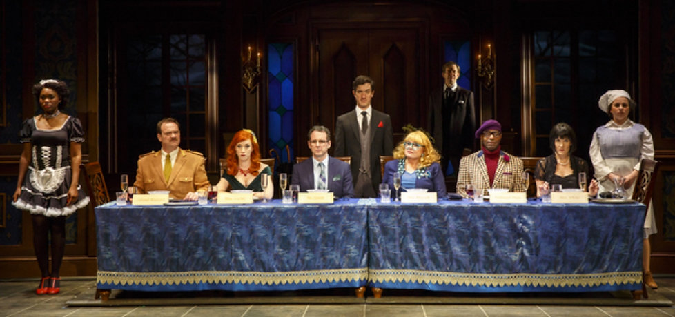 Cast of Clue on Stage (photo by Joan Marcus)