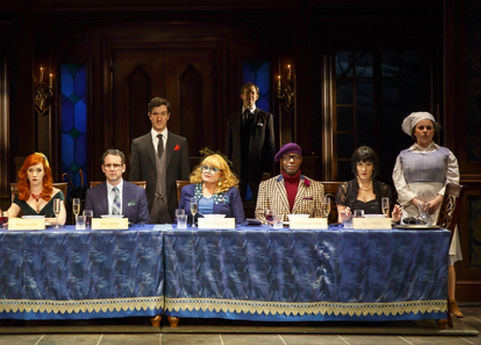 The cast of Clue on Stage at Bucks County Playhouse (photo by Joan Marcus)