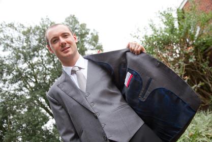 Grey jacket and waistcoat