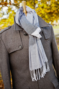 Winter coat with scarf