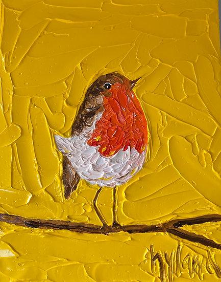 Yellow Robin (Sml Canvas)