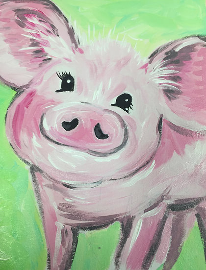 Percy Pig Painting