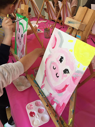 Kids Art Party  pig painting.jpg
