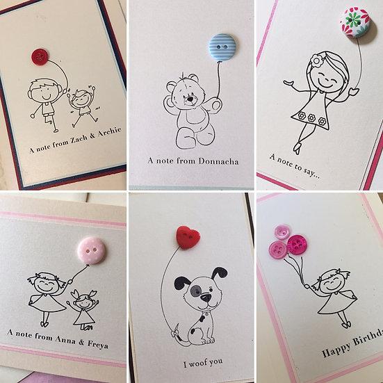 Set of Personalised Card