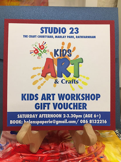 Kids Art Workshop Voucher