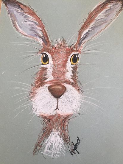 Good Hare Day -Soft Pastel Art