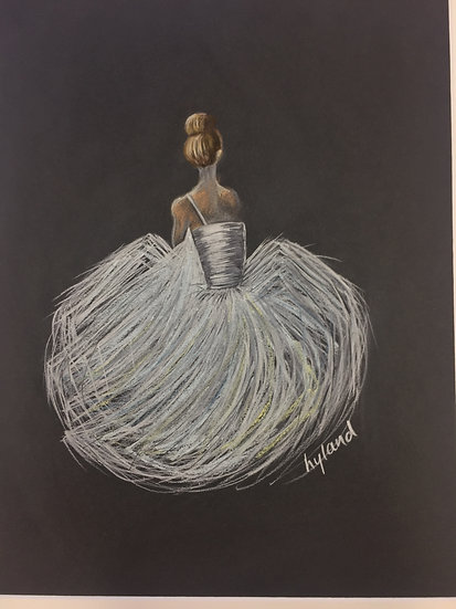 Ballerina'Pastel' framed