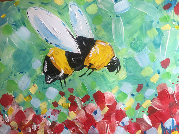 BEE Paining in Acrylic