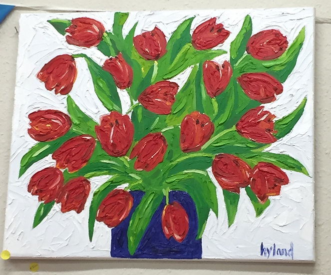 Tulips Oil Painting (60x40)