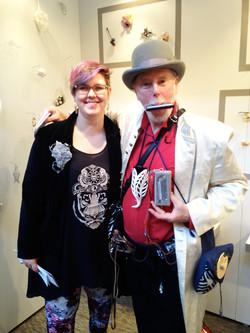 Me and Hoff the Harmonica Man
