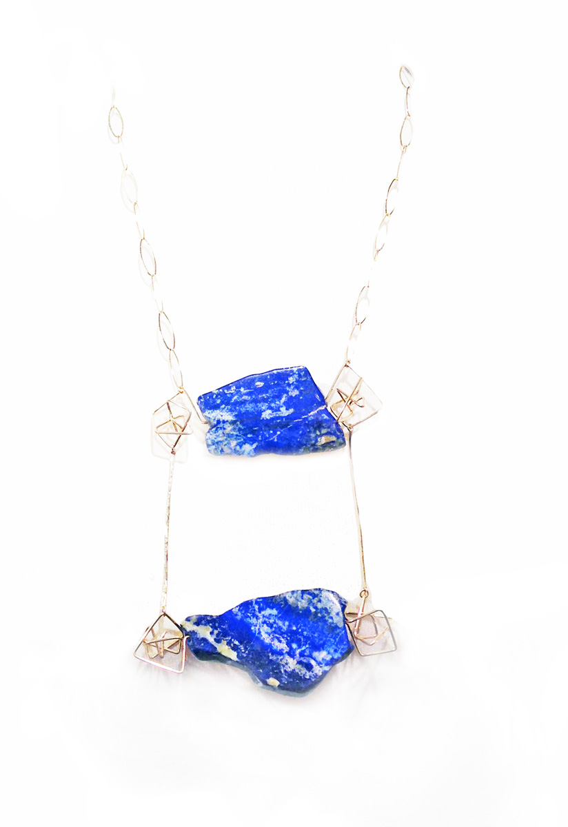 Lapis geo necklace