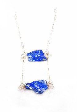 Lapis geo necklace