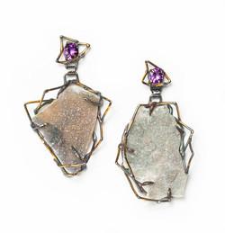 Giant mineral earrings