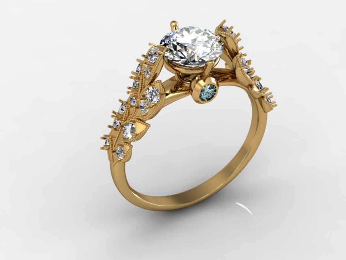 CAD model of Engagement ring
