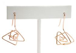 Rose gold fill earrings