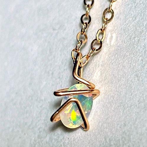 Opal Mini Geo Gem Necklace