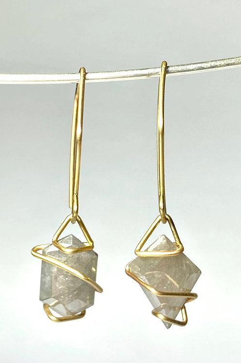 Rosecut Gray Diamond Earrings