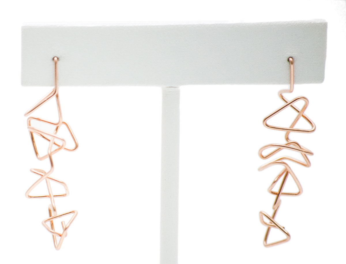 Rose gold fill earrings