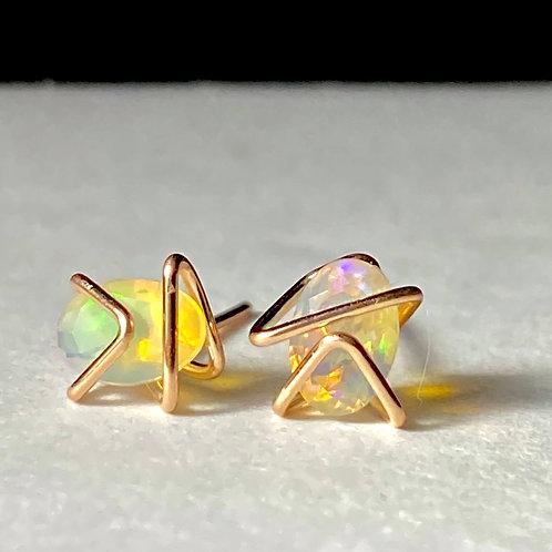 Opal Mini Geo Gem Studs