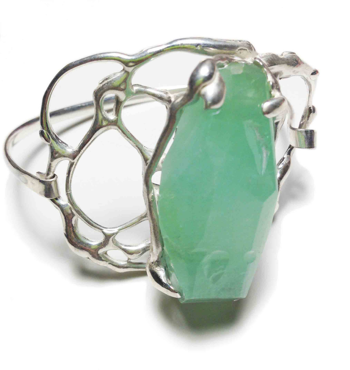 Green calcite bracelet