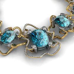 Blue tourmaline necklace