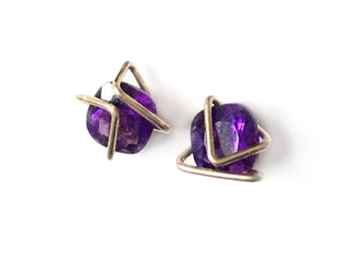 Solid Gold Classic Geo Gem Studs - Wholesale