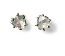 14k gold moonstone earrings