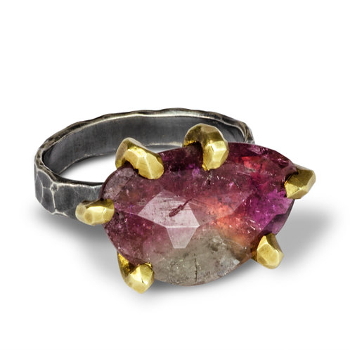 One of a Kind Watermelon Tourmaline Ring - Wholesale