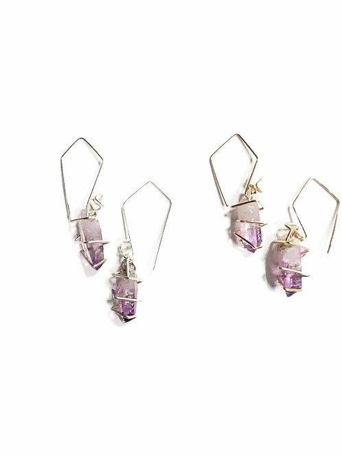 Geo Crystal Drop Earrings