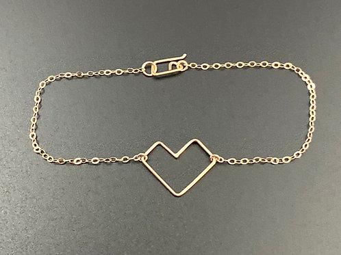 Geo Heart Bracelet