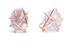 Lavender moonstone earrings