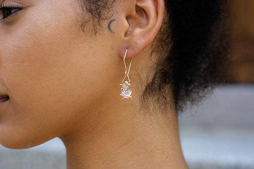 Geo Crystal Drop Earrings - Wholesale
