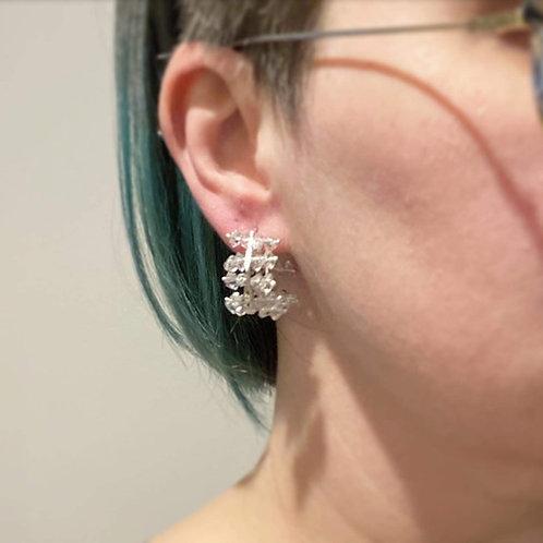 Herkimer Diamond Hoop Earrings