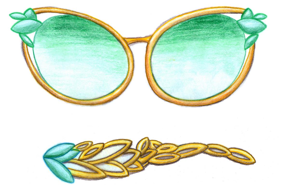 Beetle inspired sunglasses