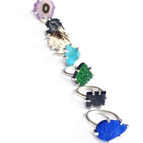 Thin Band Mineral Ring