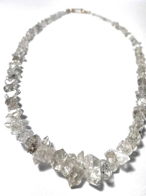 Graduated Herkimer Diamond Necklace