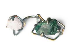 Sterling silver, 24k gold Ring
