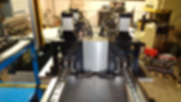 DUAL TRACK RUBBER TRIM TO LENGTH MACHINE