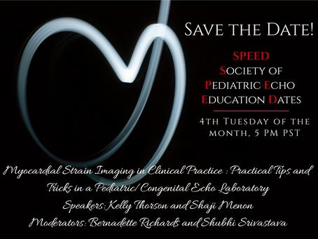 SPEED - Society of Pediatric Echo Education Dates