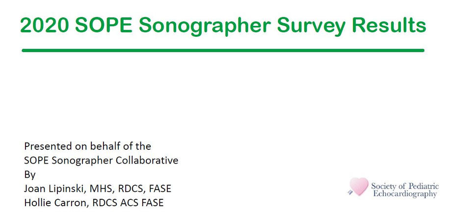 2020 SOPE Sonographer Survey Results