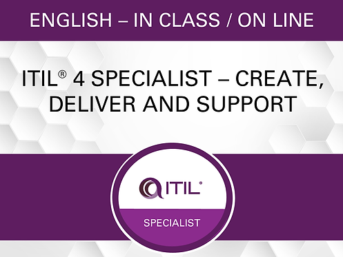 ITIL® 4 Specialist – Create, Deliver and Support