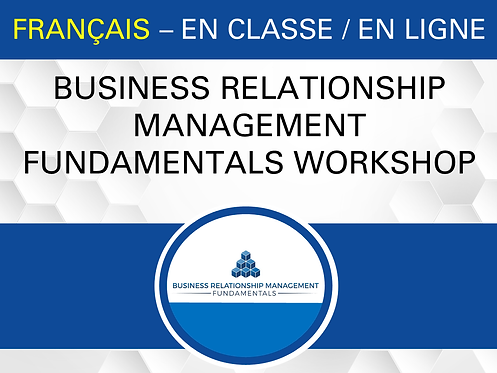 BRM Fundamentals Workshop (FRENCH)