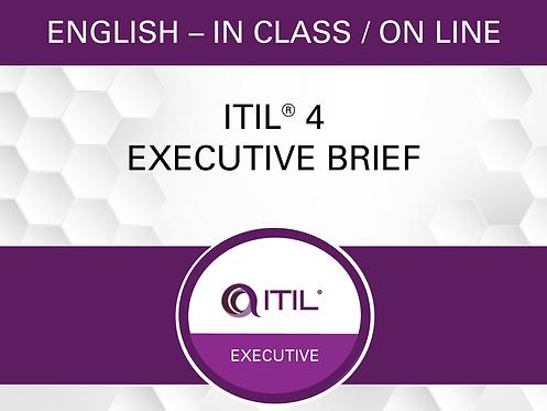Sommaire ITIL® 4 pour Exécutifs
