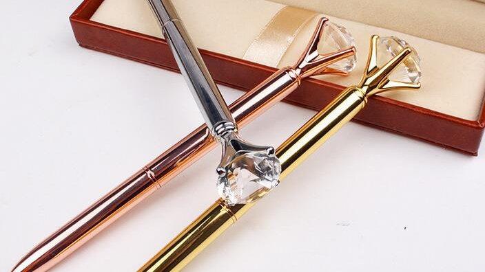 Kt. Diamond Ring Crystal Pen  Wedding, Office, Gift!