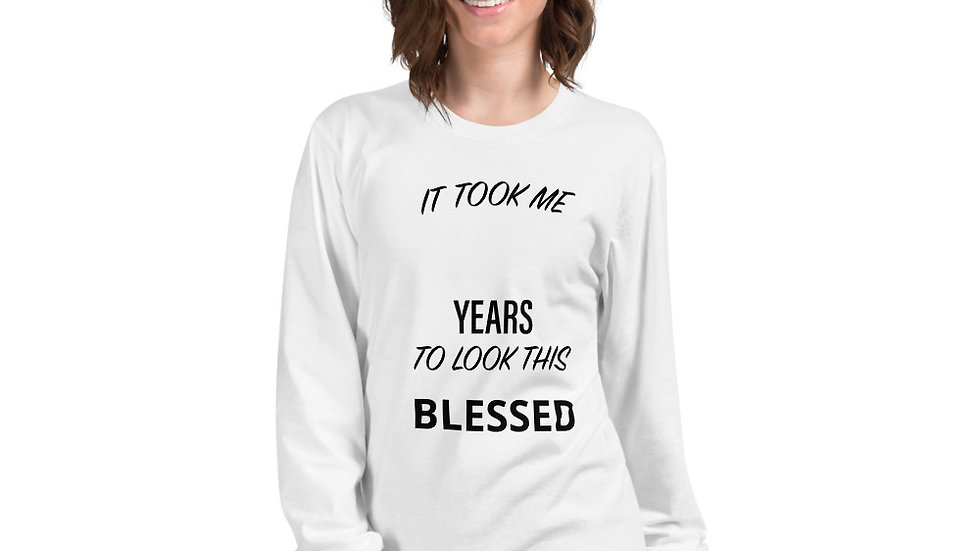 Long sleeve Blessed t-shirt