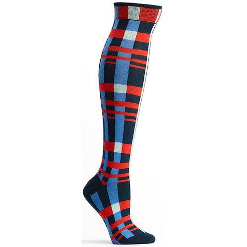 Constructive Plaid Knee High Sock