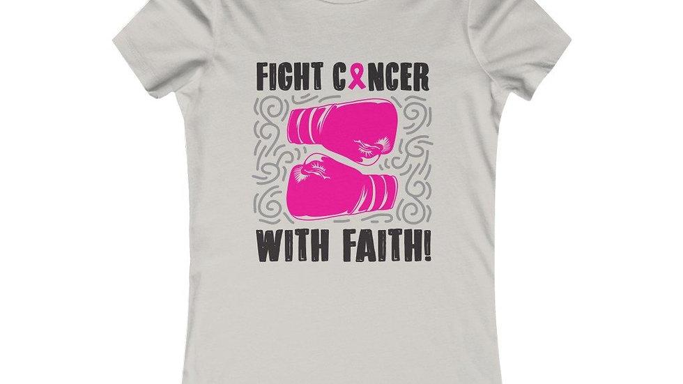 Faith Pink Breast Cancer Awareness Women Tee