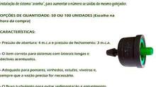 Gotejador para irrigação Autocompensante  - 4 litros hora